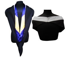 Bachelors Hood - VELVET, POLYESTER AND SATIN