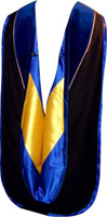 Doctoral Hood - VELVET, POLYESTER AND SATIN