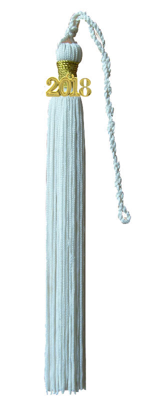 White Graduation Tassel
