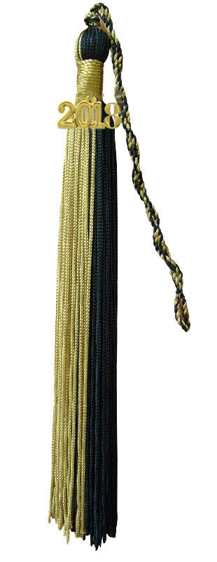 Light Gold and Black Graduation Tassel