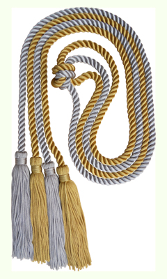 Honor Cord - SILVER AND LIGHT GOLD COLOR